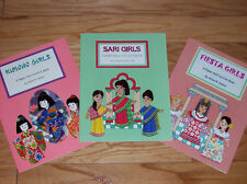 Special Offer! Lot of 3 Books: Kimono, Fiesta, and Sari Girls Paper Dolls