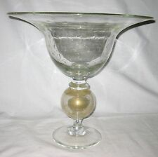 """HUGE PAIRPOINT  ART GLASS BOWL    15"""" tall"""
