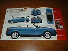 ★ 1994 Audi Cabriolet Original Imp Broschüre Brille Info 94 91 92 93 95 96 97 98