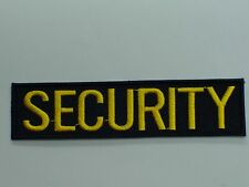 PATCH SECURITY SICUREZZA VIGILANZA GUARDIA TOPPA RICAMATA SCRITTA GIALLA