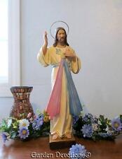 "8"" DIVINE MERCY JESUS STATUE Handpainted Plaster / Chalkware **IMPORTED**"