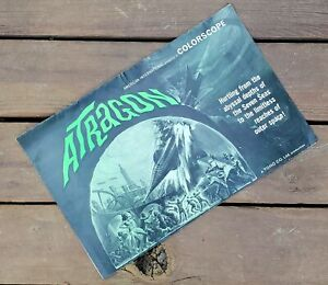 Vintage Science Fiction Atragon Movie Poster Ad Mat Order Catalog Sci-Fi TOHO CO