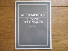 AL DI MEOLA PICKING TECHNIQUES JAPAN GUITAR SCORE BOOK OOP
