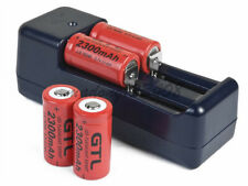 4x 3.7v GTL 2300mAh CR123A 16340 Rechargeable Li-ion Batteries+Universal Charger