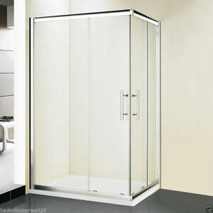Duschkabine Serie DK200 ESG Glas 80x80, 90x90, 80x100, 90x120 cm Schiebetür