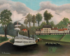 The Laundry Boat of Pont de Charen by Henri Rousseau 60cm x 48cm Art Paper Print