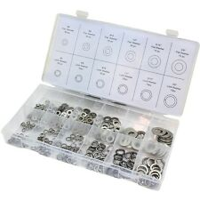 350PC Washer Stainless Steel Spring & Flat Assortment Lock 12 Size Case Assorted