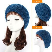 Snood Women Lady Beret Winter Warm Baggy Beanie Knit Crochet Hat Slouch Ski Cap
