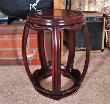 Late 19th - Early 20th Century Chinese Wooden Barrel-Form Drum Stool