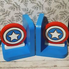 Captain America Bookends Bedroom Decor