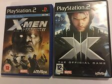 2 x PLAYSTATION 2 PS2 X-MEN THE GAME + LEGENDS 2 II RISE OF APOCALYPSE COMPLETE