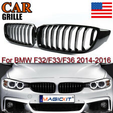 Front Grilles For 2014-2016 BMW 4 Series F32/F32/F36 420i 428i 435i Gloss Black