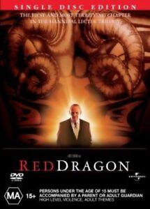 Red Dragon Hannibal Lecter DVD Sci Fi - Anthony Hopkins REG 4 AUST