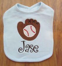 PERSONALIZED MONOGRAM CUSTOM Baseball Sports Baby Infant Toddler Bib SHOWER GIFT