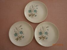 Wheat Teal design Lunch or Dessert China 3 plates 7""