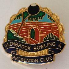 Glenbrook Bowling Club Badge Rare Vintage (K4)