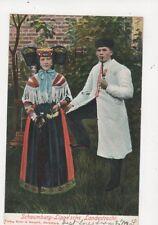 Schaumburg Lippesche Landestracht 1905 Postcard Germany 398a