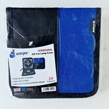 AMPS MONTANA 24 CD DISC DVD STORAGE HOLDER SLEEVE WALLET CARRY CASE, NEW SEALED
