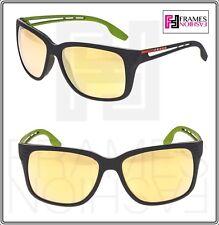 80e1bdd715f5 PRADA LINEA ROSSA PS03TS Matte Grey Green Rubber Mirrored Sport Sunglasses  03T