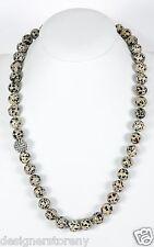 "Simon Sebbag Sterling Silver 24""  Dalmation Jasper Beads Necklace NB108/DJ24"
