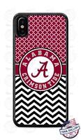 Alabama Crimson Tide Chevron Phone Case Cover Fits iPhone Samsung Google LG etc