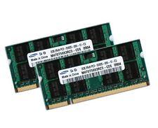 2x 2gb 4gb ddr2 de memoria RAM toshiba satellite a200-Samsung tan DIMM 667 MHz