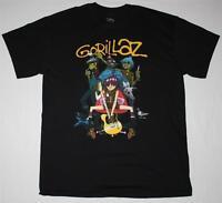 GORILLAZ BAND ALTERNATIVE HIP HOP ROCK BRIT BAND BLUR ALBARN NEW BLACK T-SHIRT