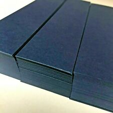 More details for 500 blank card bookmarks. navy blue card. 245gsm. 210mm x 46mm. b04
