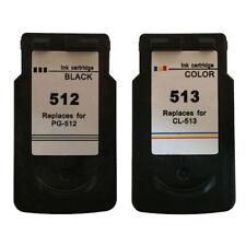 PG512 Black & CL513 Colour Reman Ink Cartridges For Canon PIXMA MP499 Printer