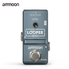 ammoon Electric Guitar Effect Pedal Looper Unlimited Overdubs + USB Cable D9O6