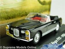 FACEL VEGA FV2 CAR MODEL 1:43 SIZE 1956 IXO ATLAS BLACK CABRIOLET FRENCH 1956 T3