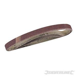 100 X(50 x 80 + 50 x 120)GRIT SANDING BELTS 10mmx330mm Fits all Powefile Sanders