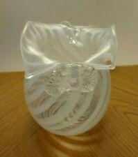 Art glass vase signed Jill Devine dated 1987