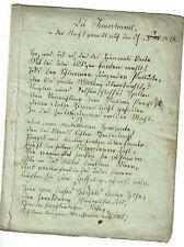 Gedicht-Handschrift Feuersbrunst 1815 von Josephine Morbitzer 1828 Lyrik
