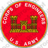 STICKER US Army Corps of Engineers Branch Plaque