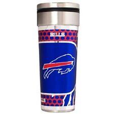 Buffalo Bills Logo Travel Mug Tumbler Stainless Steel 22 oz Metallic Wrap