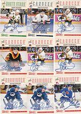 12/13 Panini Classics Signatures Auto Geoff Courtnall #27 Canucks 2012/13