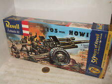 Vintage Revell H-539 US Army 105 MM Howitzer & Crew & Base Model Kit in 1:40