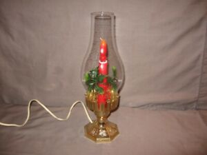 """Vintage Electric Hurricane Christmas Lamp 12"""" Height Works!"""