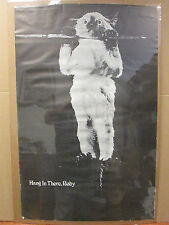 vintage hang in there, baby original poster    5855