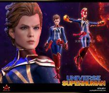 "ACPLAY 1/6 Cosmic Captain Marvel Superman Double-Headed Sculpt Female 12"" Figure"
