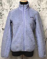 PATAGONIA Women's Deep Pile Fleece Retro X Full Zip Jacket Purple Vintage