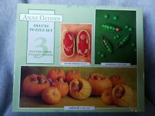New Anne Geddes 3 Full Size 100, 550, 700 Piece Puzzles Baby Pumpkin Watermelon
