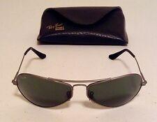 "Rare Vintage Sample B&L RAY-BAN ""Air Boss"" W2617 YSAR Matte Silver/G15 Lens"