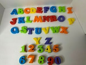 Playskool Magnetic Capital Letters  & Numbers Braille - Vintage colorful Thick