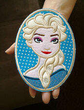 """Elsa - Frozen - Disney - Embroidered Iron On Applique Patch - 6  1/8""""High"""