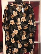 NWT 2xb  Caribbean Black Rayon Floral Shirt $69