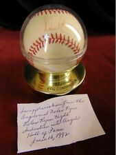 NOLAN RYAN Signed Autographed Baseball 1992 Induction into Angels Hall Of Fame
