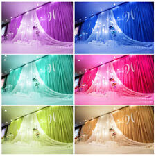 New Beautiful Colors Backdrop Drapes for Wedding Party Stage Fabric Curtain Swag