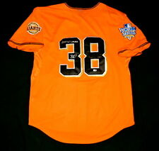 BRIAN WILSON AUTOGRAPHED JERSEY (SAN FRANCISCO GIANTS) W/ PROOF! - MLB HOLOGRAM!